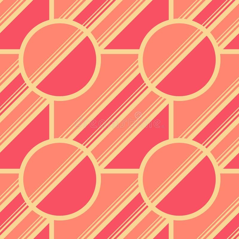 Retro geometriska best?ndsdelar i bleka f?rger - abstrakta linjer och diagram S?ml?sa modeller f?r ljus vektor f?r textil, tryck, royaltyfri illustrationer