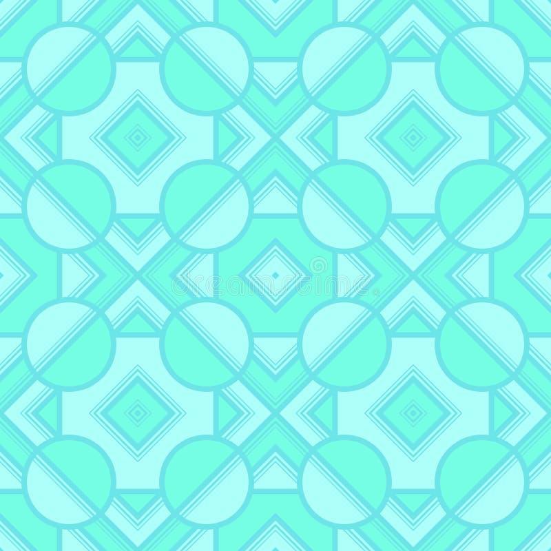 Retro geometriska best?ndsdelar i bleka f?rger - abstrakta linjer och diagram S?ml?sa modeller f?r ljus vektor f?r textil, tryck, stock illustrationer