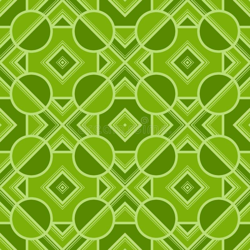 Retro geometriska best?ndsdelar i livliga f?rger - abstrakta linjer och diagram S?ml?sa modeller f?r ljus vektor f?r textil, tryc stock illustrationer
