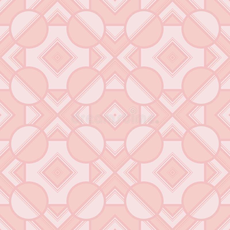 Retro geometriska best?ndsdelar i ljusa f?rger - abstrakta linjer och diagram S?ml?sa modeller f?r ljus vektor f?r textil, tryck, royaltyfri illustrationer