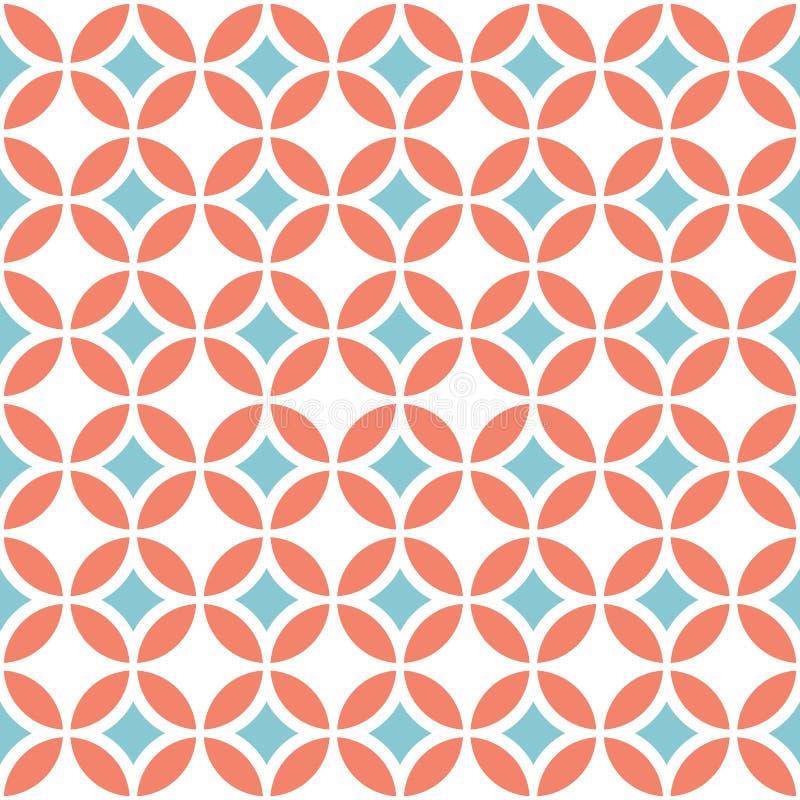Retro geometriska seamless mönstrar stock illustrationer