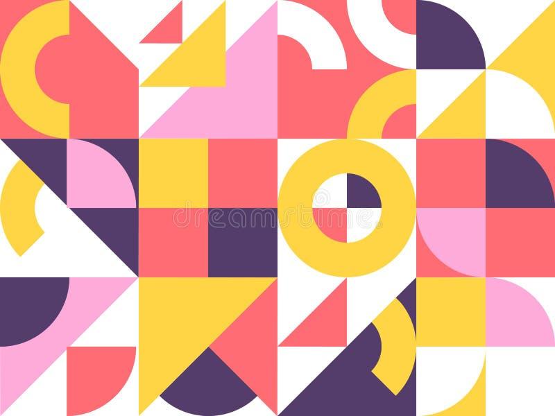 Retro geometryczny abstrakcjonistyczny t?o ilustracja wektor