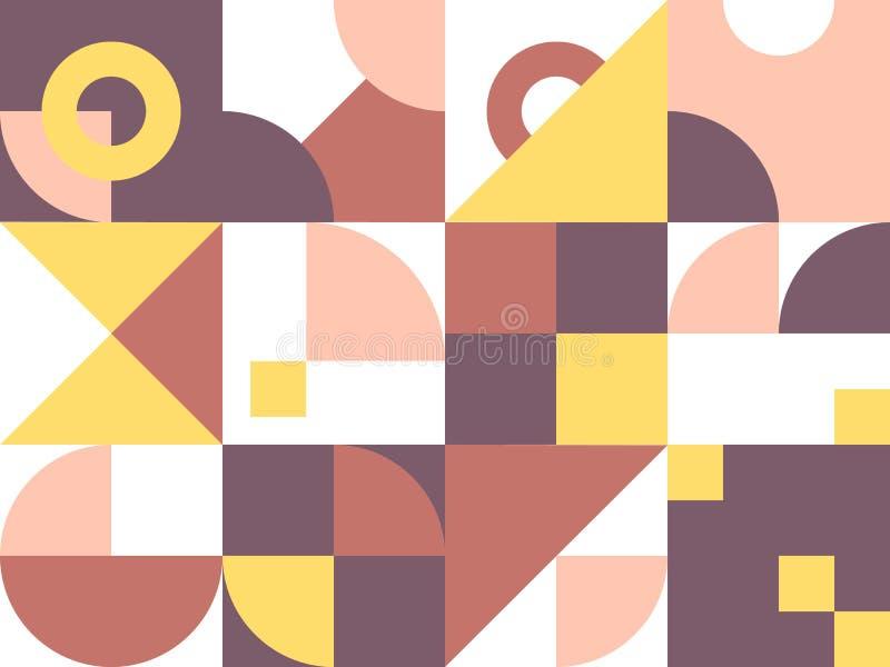Retro geometryczny abstrakcjonistyczny t?o ilustracji
