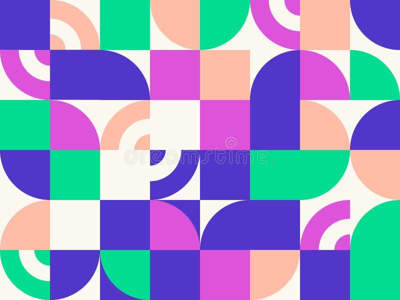 Retro geometryczny abstrakcjonistyczny t?o royalty ilustracja