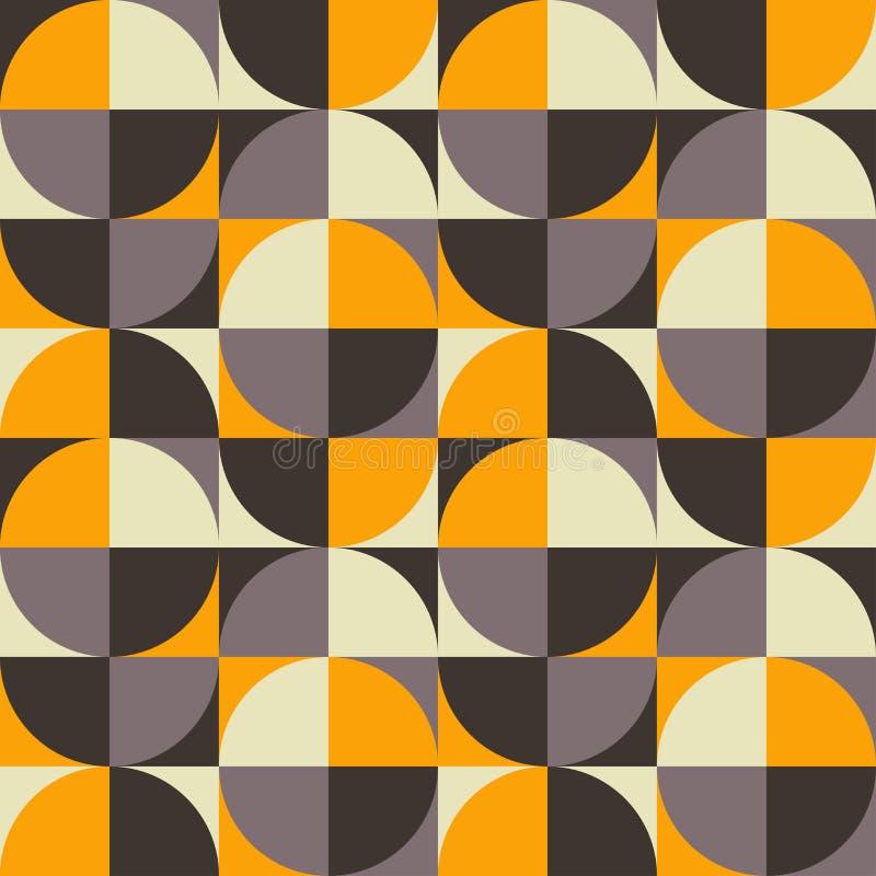 Retro geometryczny bezszwowy wzór ilustracji