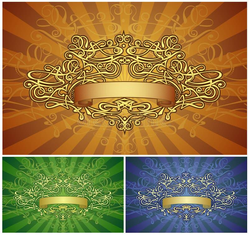 Retro-gestileerd frame royalty-vrije illustratie