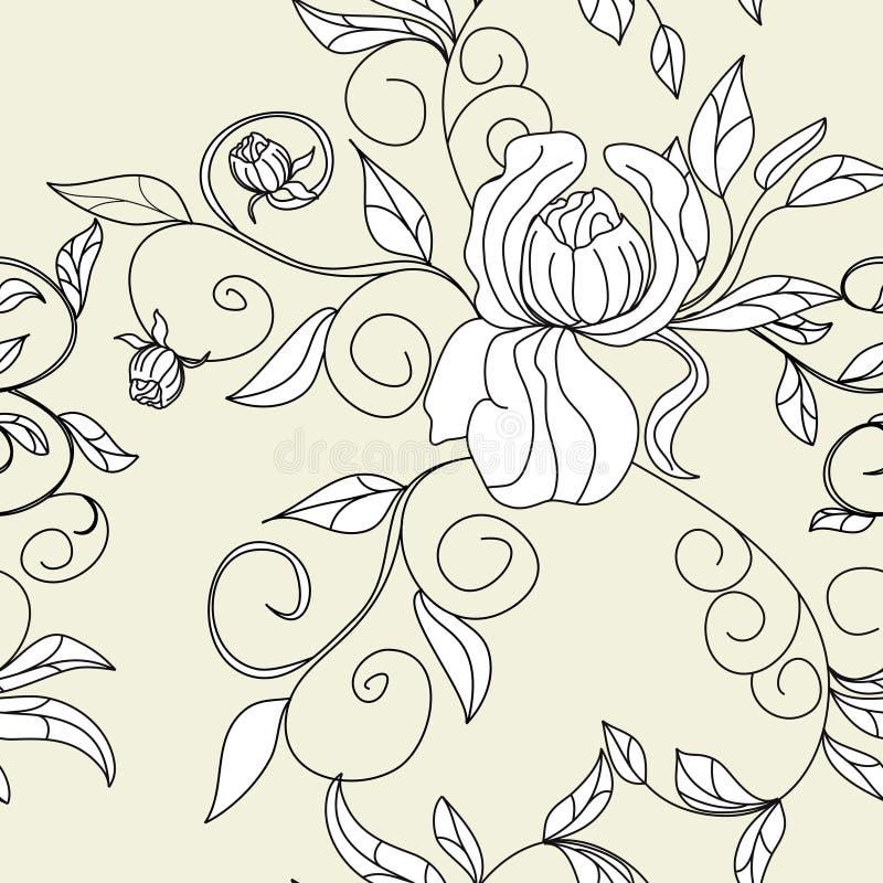 Retro gestileerd naadloos behang stock illustratie