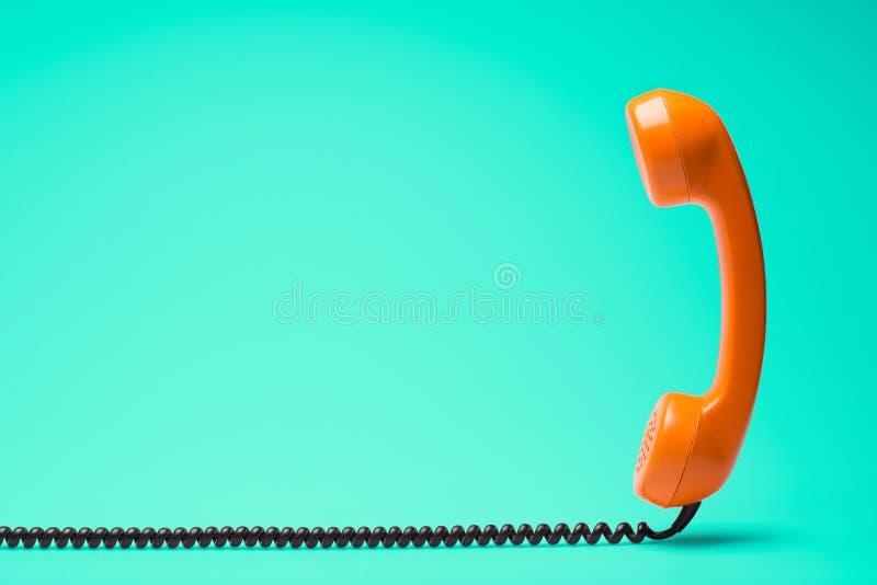 Retro gestileerde telefoon royalty-vrije stock fotografie