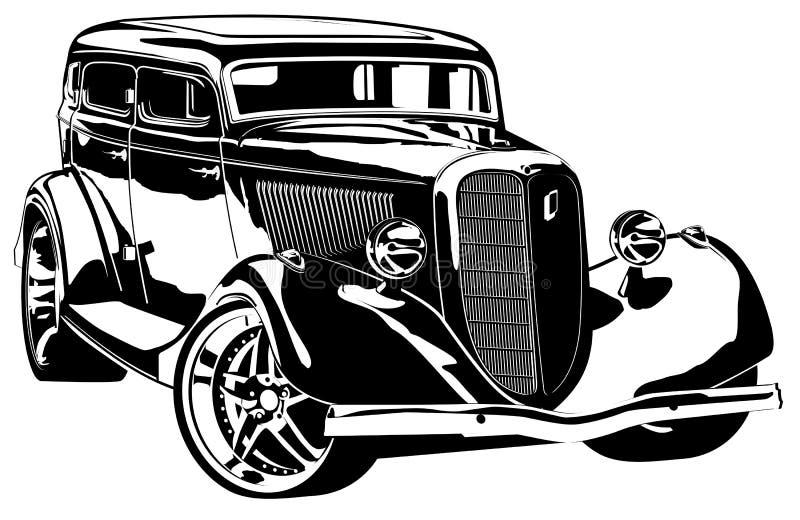 Retro-gestileerde vector hotrod stock illustratie
