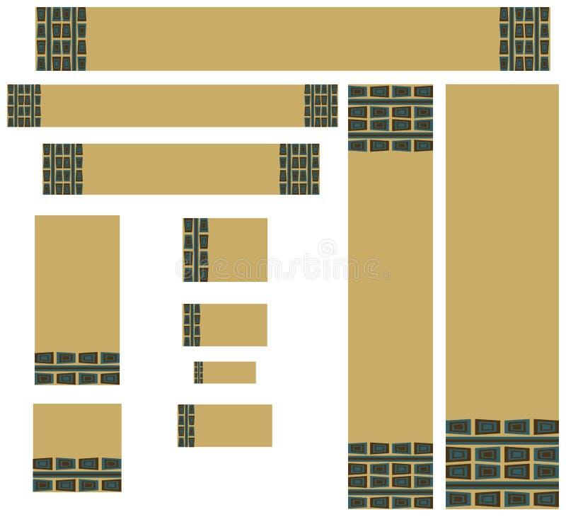 Retro gestileerde Webbanners vector illustratie