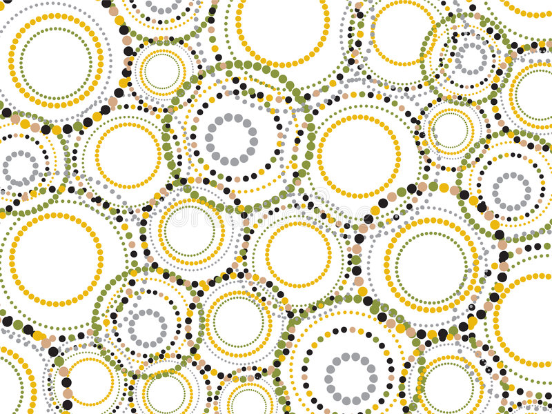 Retro gestippelde pret omcirkelt patroon royalty-vrije illustratie