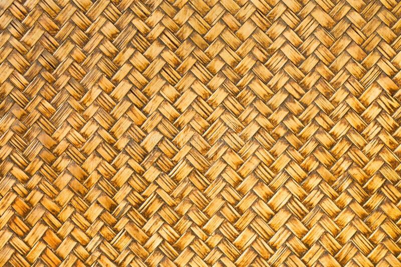 Retro geweven bamboe houten patroon stock afbeeldingen