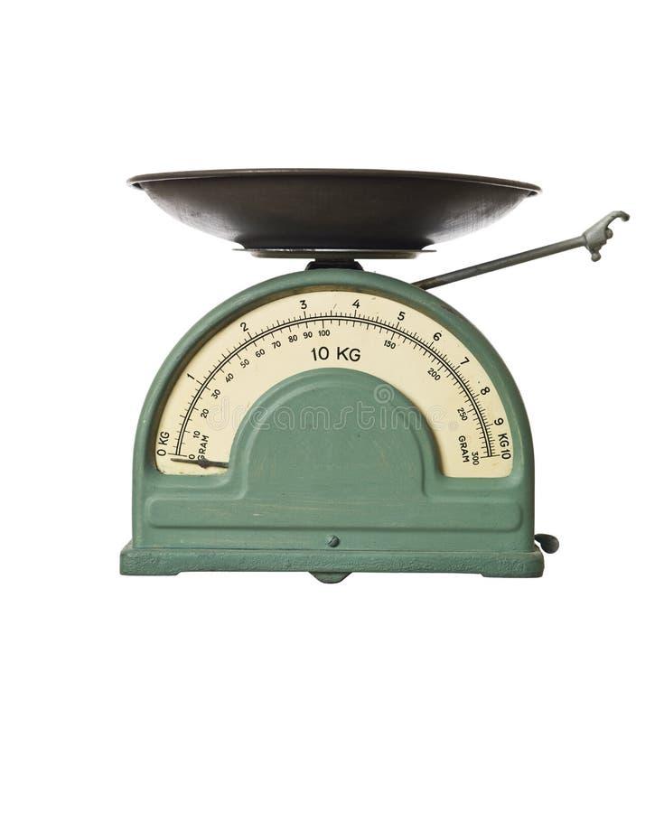 Retro gewichtsschaal stock afbeelding