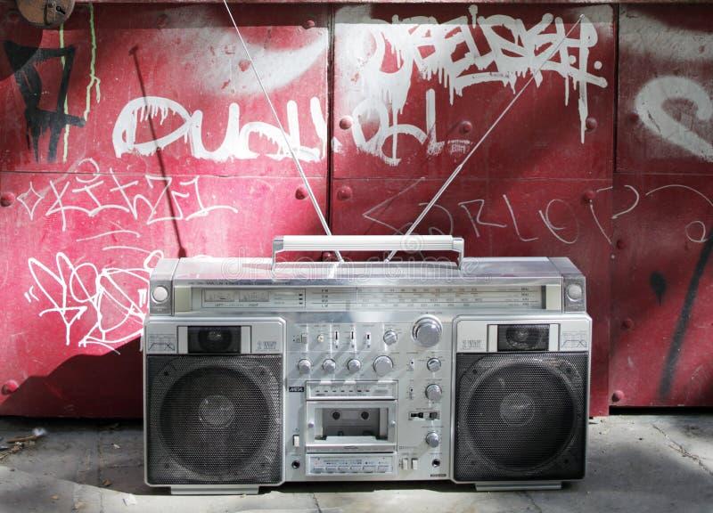retro ghettoblaster fotografering för bildbyråer
