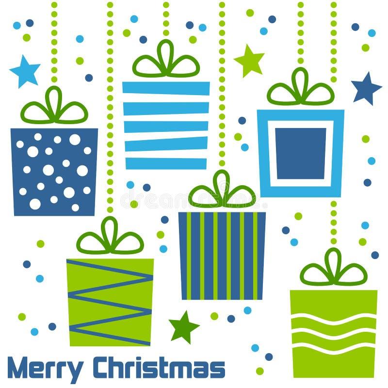 Retro Giften van Kerstmis stock illustratie