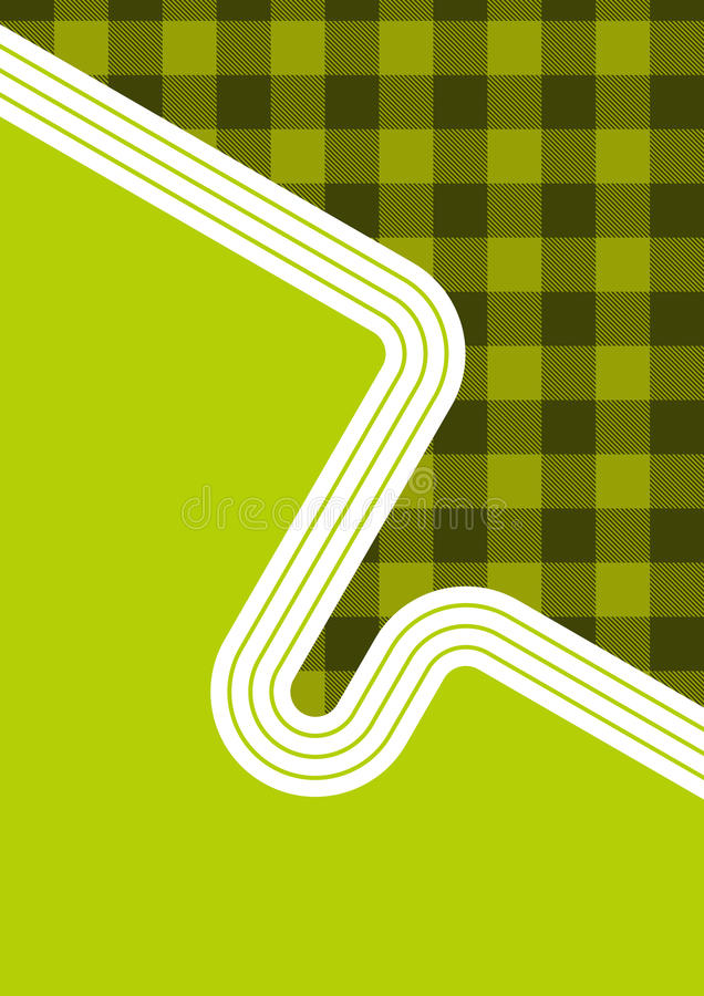 Retro Gingham Design. Background illustration in partial retro, partial gingham design, in shades of green and white. Copy space available vector illustration