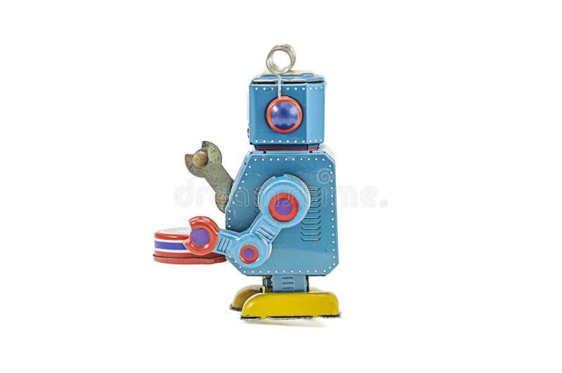 Download Retro Giocattoli Del Robot Isolati Fotografia Stock - Immagine di futuro, remote: 30828744