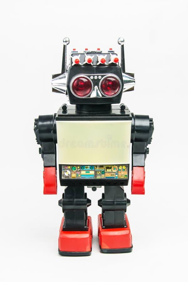 Retro giocattolo classico del robot d'annata fotografia stock