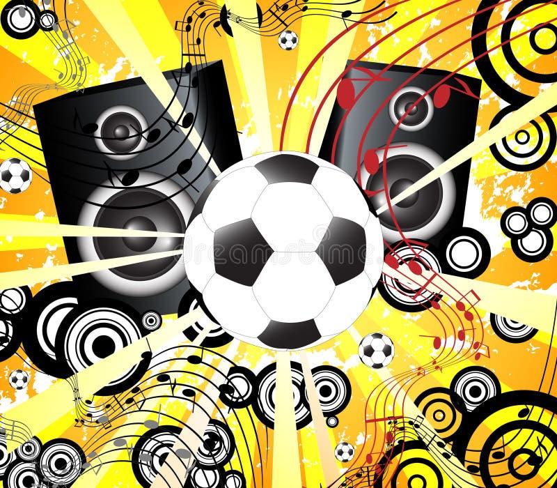 Retro gioco del calcio e partito illustrazione vettoriale