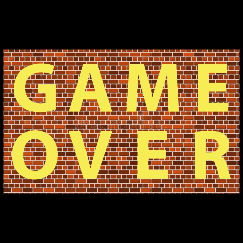 Retro gioco del pixel sopra il segno Concetto di gioco Schermo del video gioco illustrazione vettoriale