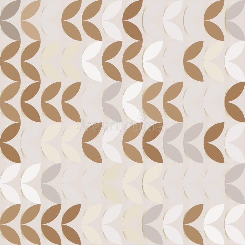 Retro giometric bezszwowej wektorowej okrąg kawy papieru flancy abstrakcjonistyczny modny wzór ilustracja wektor