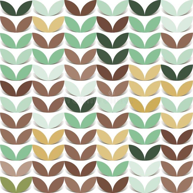 Retro giometric bezszwowej wektorowej okręgu papieru jaskrawej colourful flancy abstrakcjonistyczny modny wzór ilustracji