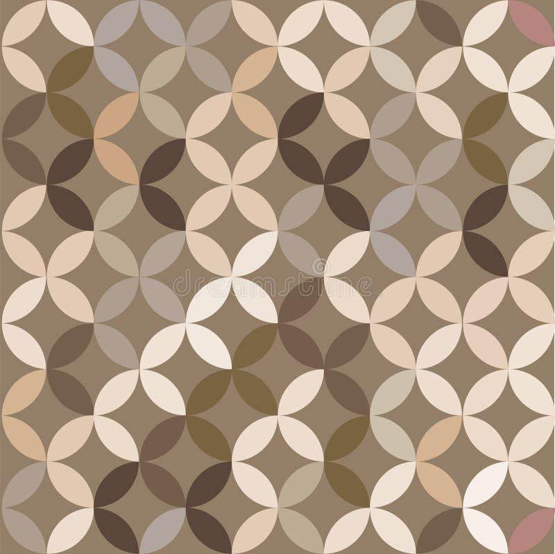 Retro giometric bezszwowy wektor okrąża courful abstrakcjonistycznego modnego kawa wzór ilustracja wektor