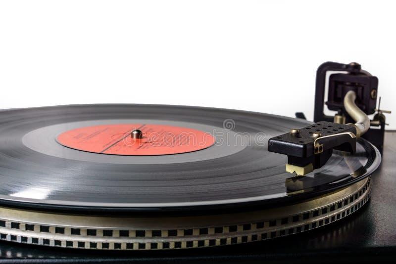 Retro giradischi del vinile della piattaforma girevole Giradischi d'annata Vecchia audio attrezzatura analogica per l'entusiasta  immagine stock