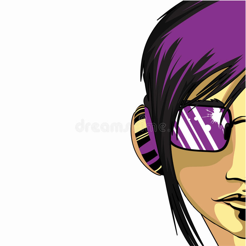 Retro girl royalty free illustration