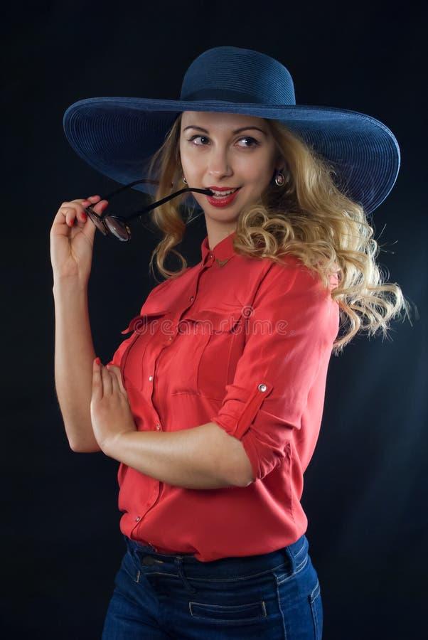 Retro girl royalty free stock image