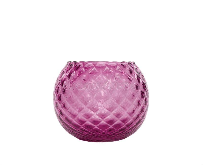Retro glass vase. On a white background royalty free stock photos
