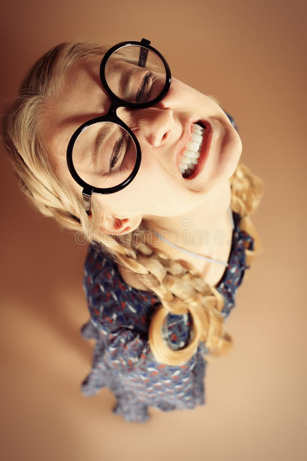 Retro glasses royalty free stock photography
