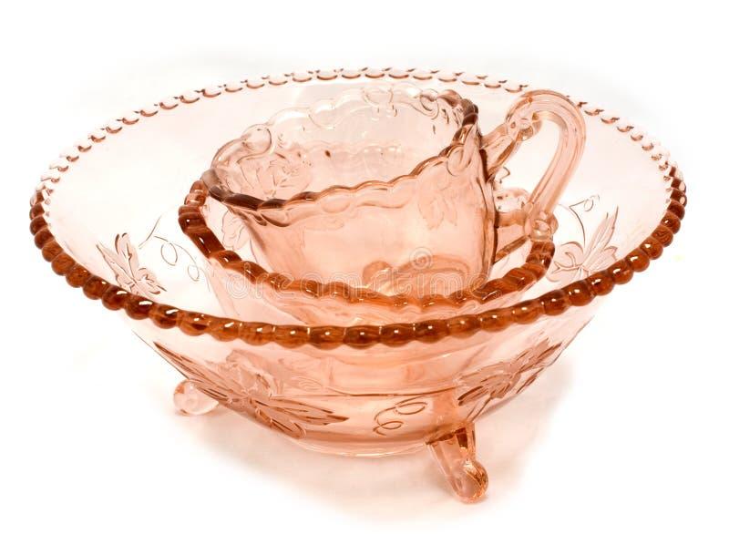 Retro glassware royalty free stock images