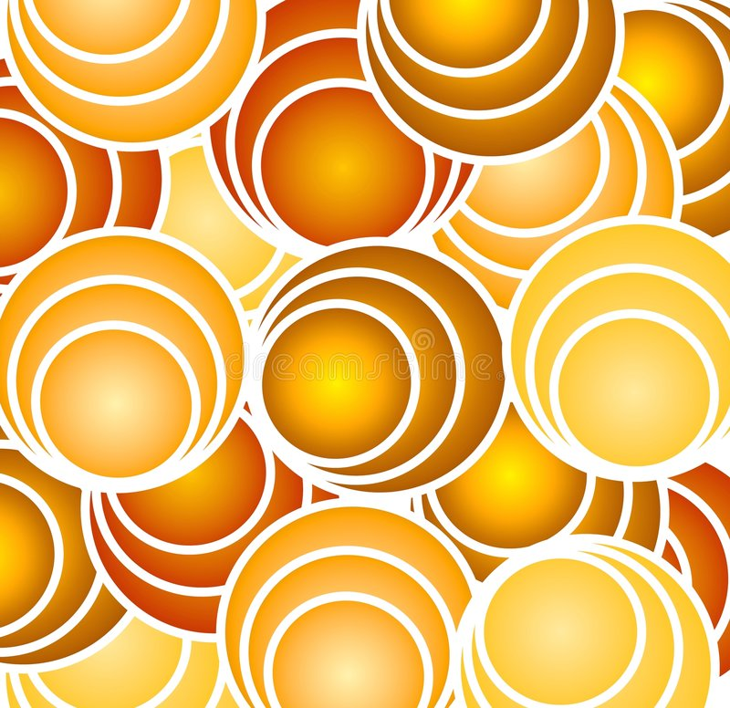 Retro Gold Circles and Hoops royalty free illustration