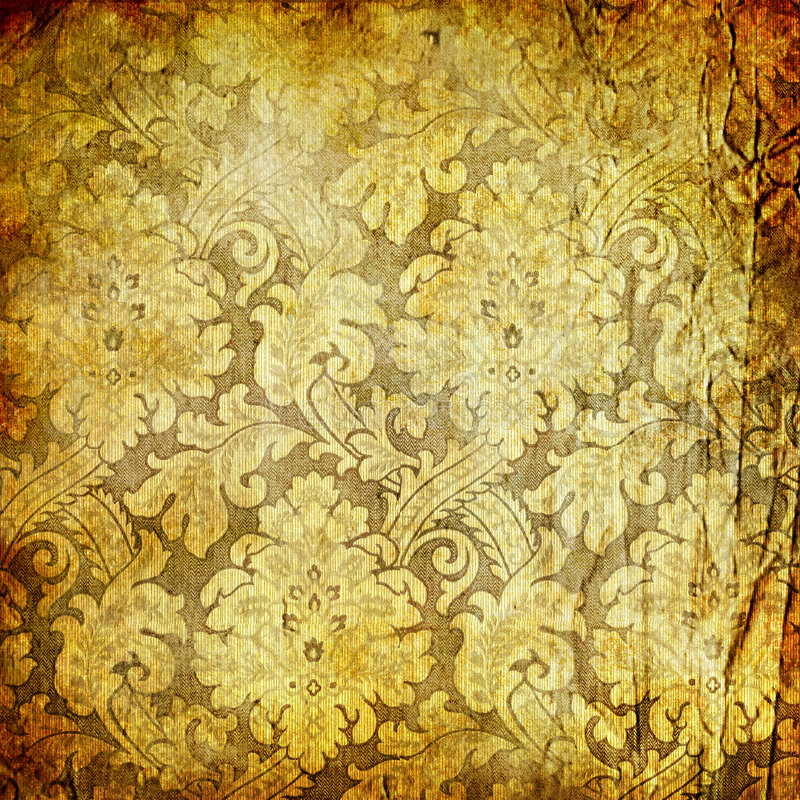 Retro golden wallpaper royalty free stock image