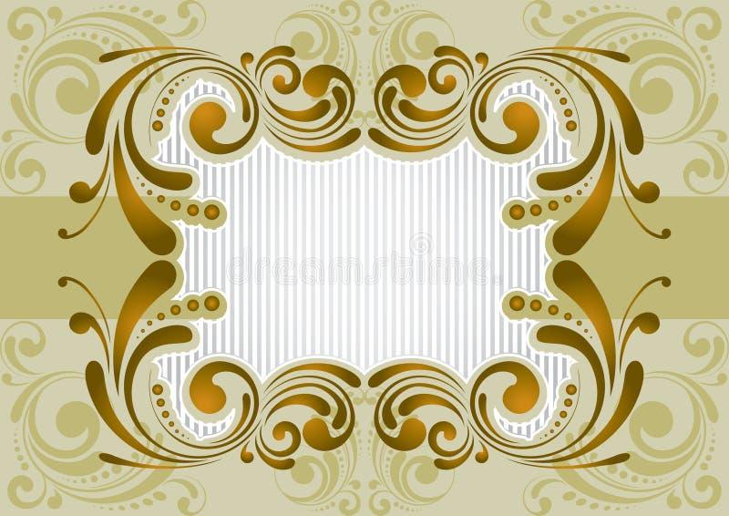 Retro- goldener Hintergrund vektor abbildung
