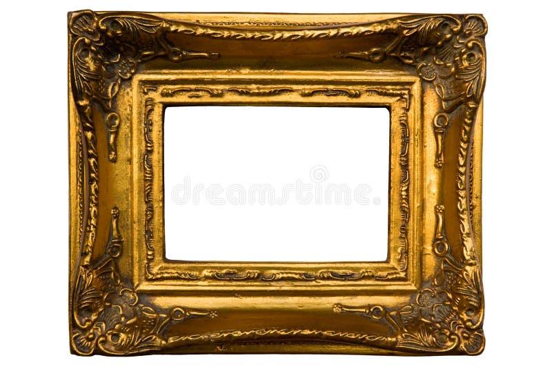 Retro- Goldfeld getrennt lizenzfreies stockbild
