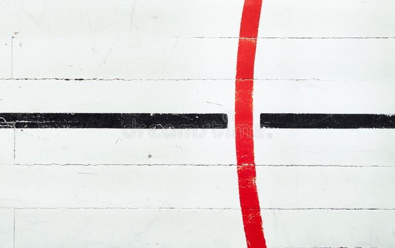 Retro golv för basketdomstol arkivbild