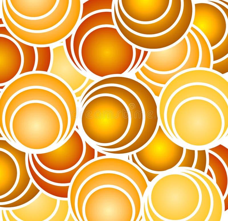 Retro Gouden Cirkels en Hoepels royalty-vrije illustratie
