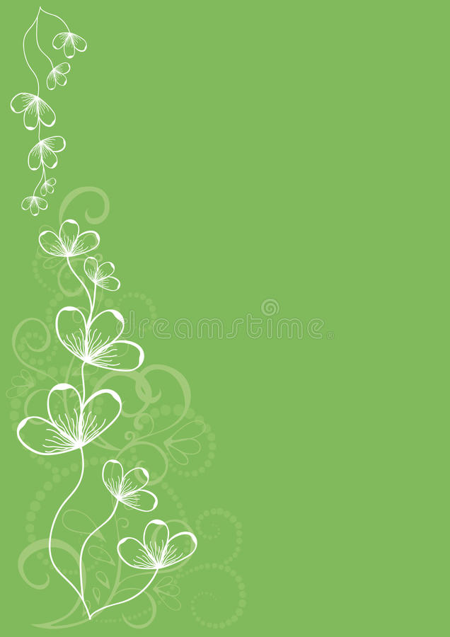 Retro- grüne Blume vektor abbildung