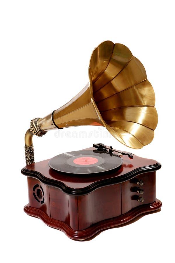 retro grammofon royaltyfri foto