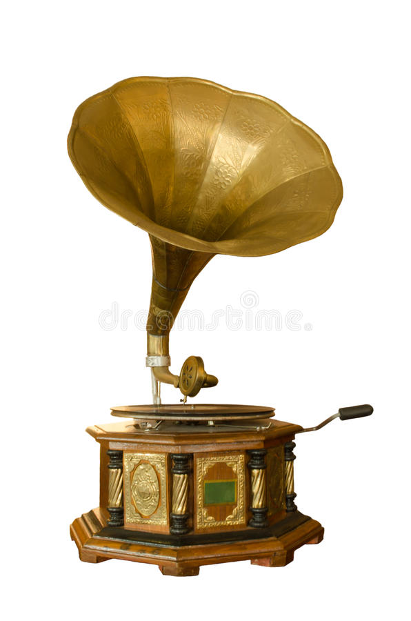 Retro grammofoon stock foto's