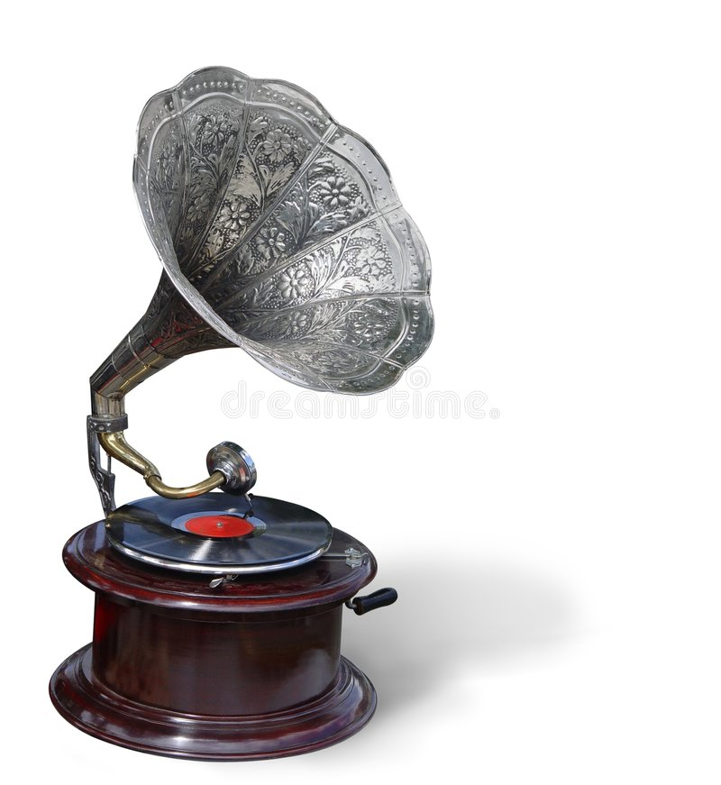 Retro- Grammophon lizenzfreie stockfotos
