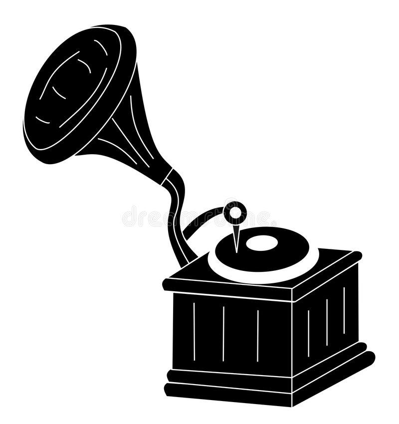 Retro gramophone royalty free stock images