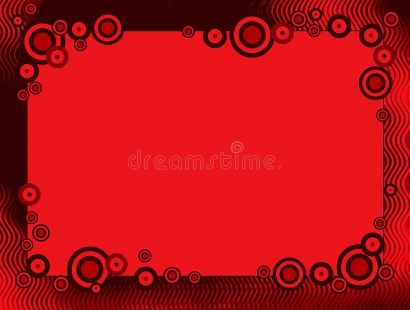 Retro granica okrąg rama/ ilustracji