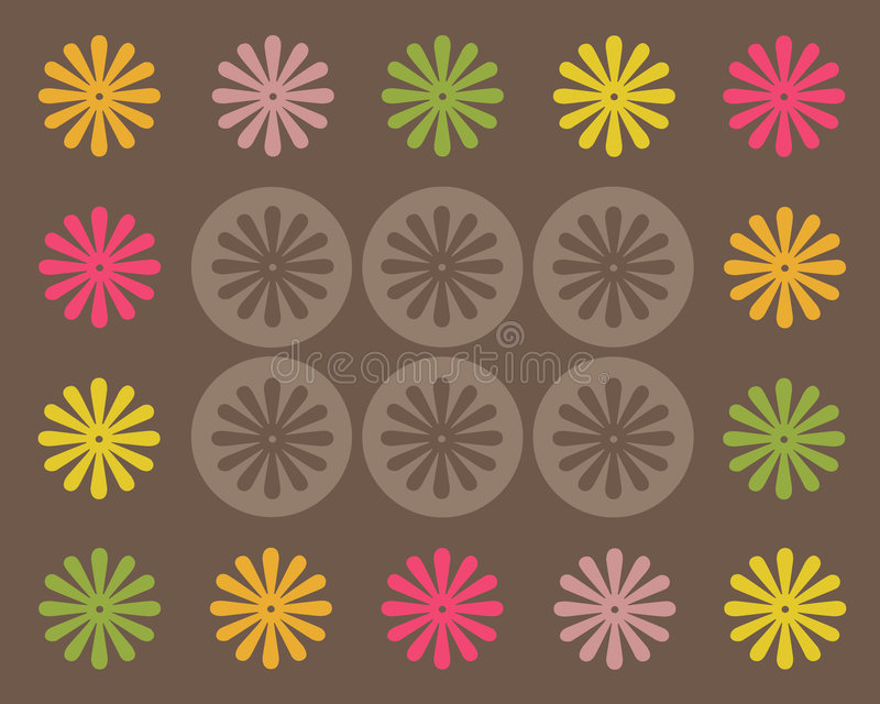 Download Retro graphic design stock illustration. Image of flower - 8697442
