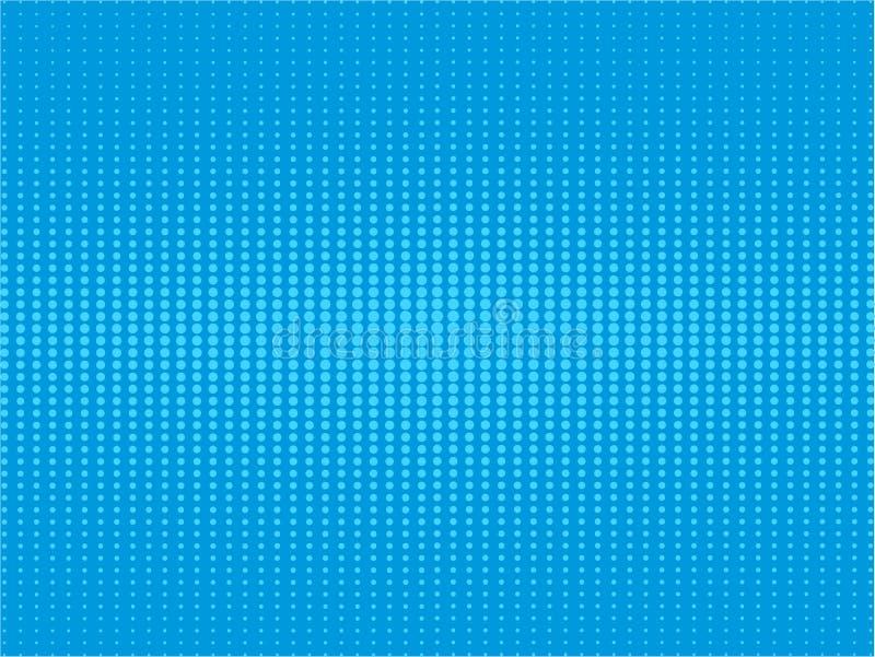 Retro grappige blauwe halftone pop-art van de achtergrondroostergradiënt root vector illustratie