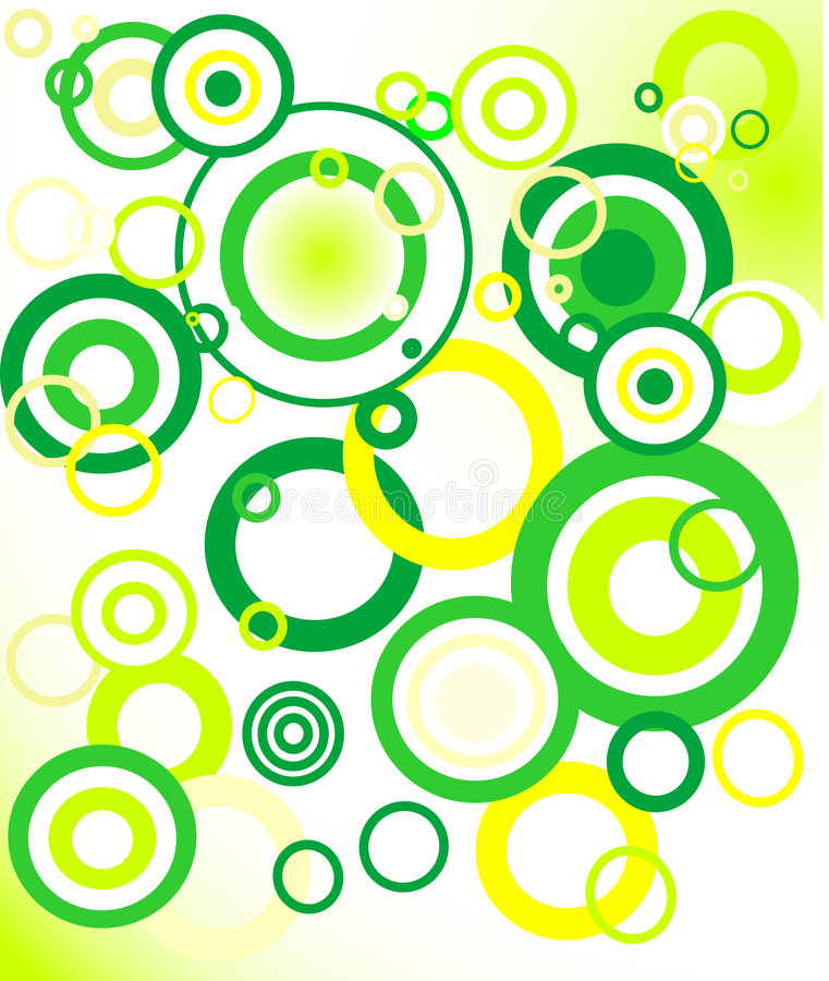 retro green background (circle)