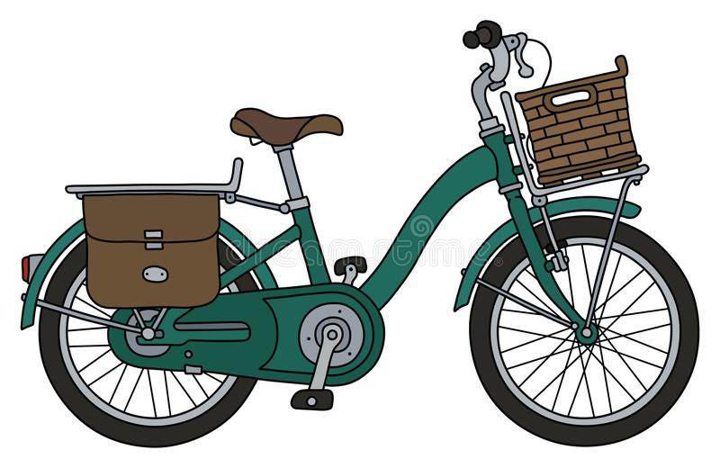The retro green bicycle vector illustration