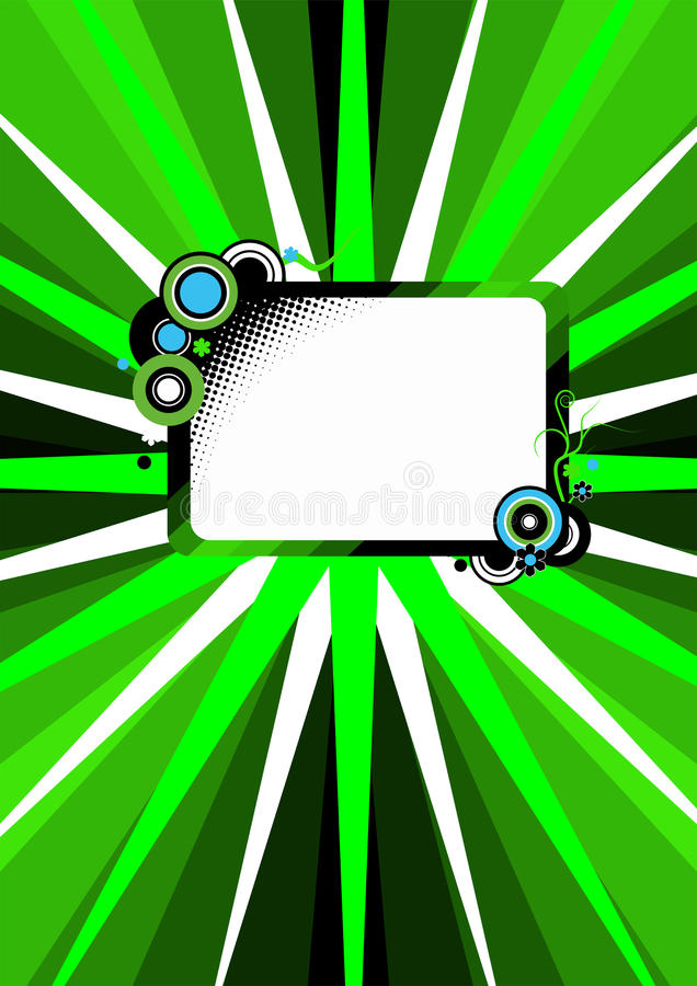 Download Retro green cover stock illustration. Image of cover - 26949682